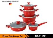 Colored Cookware Set NS-6115 P