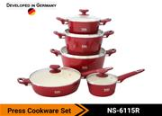 Colored Cookware Set NS-6115R